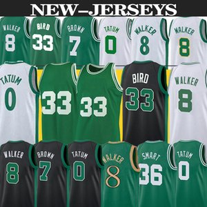 camisas de basquetebol verde venda por atacado-Nba Jersey Boston Celtics basketball jersey Jayson Tatum Kemba Walker Larry Bird Jaylen Brown Marcus Smart men nba basketball jerseys hot sell