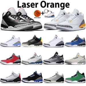 Wholesale new christmas laser lights for sale - Group buy New laser orange UNC basketball shoes mens sports trainers black white cement infrared SE fire red animal instinct sneakers