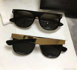 ingrosso occhiali da sole super cool-Cool Pilot Sunglasses Super da Retro Francis Flat Top Black Grey Grey Lens Bicchieri da sole con caso