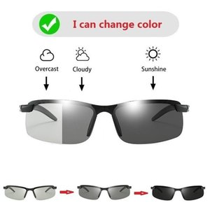 Wholesale polarized night drive glasses for sale - Group buy Pochromic Men Sunglasses Polarized Driving Chameleon Sun Glasses Male Change Color Driver s Glass Day Night Vision TR90 Frame