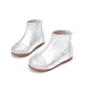 Wholesale black flower kids boots resale online - Flower Girl Boots For Wedding Leather Kids Glitter Birthday Party Shoes Halloween Black Plush Winter t t t Silver Solid