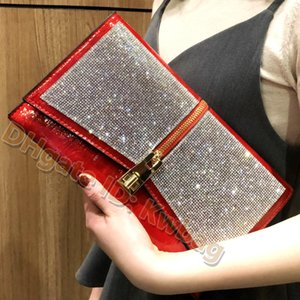 Wholesale korean large bags fashion lady for sale - Group buy 2021 ladies Fashion wallet Large capacity Diamonds Clutch Bags versatile banquet bag messenger handbag Luxurys Designers party shoulder handbags Underarm purses