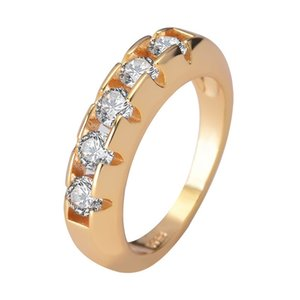 ingrosso anelli di granato per le donne-Anello con diamanti dorati K per le donne per unirsi a Party Gemstone De Wedding Diamante Engagement Jewelry Anello moda Q2