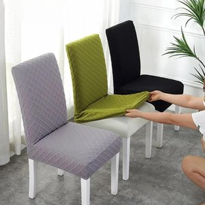 Wholesale dining rooms chairs resale online - 1 Jacquard Dining Chair Cover Spandex Slipcover Case For Chairs Kitchen Covers Elastic Stretch Room