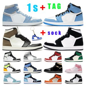 Wholesale heated sneakers for sale - Group buy mens basketball shoes s jumpman women University Blue Hyper Royal Smoke Grey Obsidian Dark Mocha twist Chicago pink sports sneaker trainer outdoor