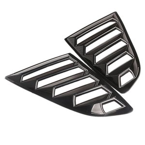 colheres de carro venda por atacado-Louvers de janelas traseiras Louvers Scoops Spoiler Car Side Scoop Cover para Mustang Sunshade