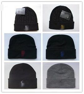 Wholesale polo beanie resale online - New Arrival Unisex Spring Winter Hats for Men Mens Beanie Wool Hat Man Knit Bonnet Polo Beanie Gorro Chapeu Knitted Thicken Warm Cap