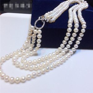des colliers de perles de brins triple achat en gros de-news_sitemap_homeTriple Strands Naturel mm Sears Sud Blanc Collier de perles Chaînes