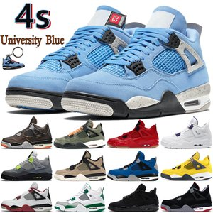 Wholesale basketball shoes men resale online - University Blue s mens Basketball Shoes starfish metallic purple black cat bred fire red cactus jack men women sneakers US
