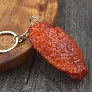 ingrosso pollo arrosto-Simulazione Food Keychain PVC FAKE BRASED BRAISED PROGATORE TROTTORE TROADED Pendente di pollo arrostito Cibi creativi artificiali Anello chiave GGA4380