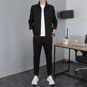 Wholesale hook bars for sale - Group buy bar Three Men s sports Tracksuits suit fashion cool casual sportswear spring autumn standing collar coat two piece set