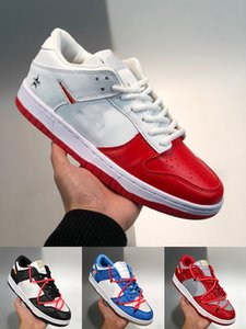 kadınlar için spor ayakkabıları satışı toptan satış-Supreme x Nk SB Dunk Low joint casual sports skateboard shoes OFF WHITE x Nike Dunk Low x FL tripartite joint Dancing Bear