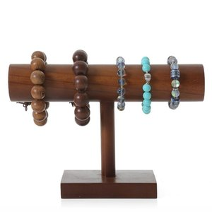 Wholesale jewelry organizations resale online - Wooden Jewelry Display Stand Perfect For Bracelet Bangle Watch Home Organization Tradeshow And Showcase Pouches Bags