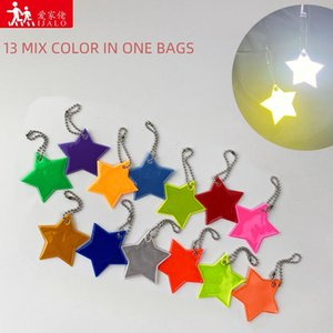 Wholesale reflective traffic resale online - Pieces Little Star Bag Keychain Cute Soft PVC Reflective Keyrings Pendant Charm Accessories For Traffic Safety Use Keychains