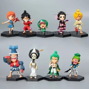Wholesale one piece usopp for sale - Group buy One Piece LAND OF WANO Anime Figures Luffy Zoro Usopp Sanji Chopper BROOK Nami Robin Franky Mini Doll Boxed Model Figure Toys