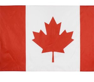 Wholesale italy flags resale online - 1 Canada Flag cm FT Big Hanging Italy National Country Flag Canadian Banner Used For Festival Home Decoration V2