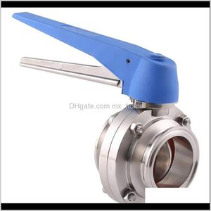 Wholesale stainless steel tri clamp resale online - 112 Mm Ss304 Stainless Steel Sanitary Tri Clamp Butterfly Valve Squeeze Trigger For Homebrew Dairy Wmtqeb Jqua Other Faucets Sho Da0Qa