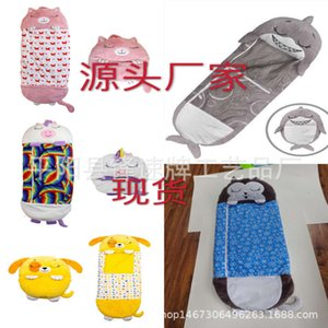 Wholesale kids baby safety bag resale online - 2020 happy nappers children s cartoon sleeping bag pillow baby safety kick proof quilt