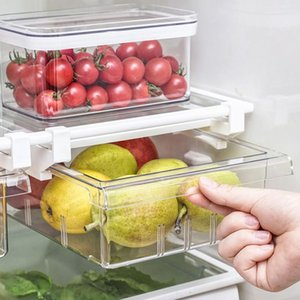 Wholesale draw organizers resale online - Storage Bottles Jars Refrigerator Draw Compartment Drawer Organizer Transparent Fridge Bin Containers For Pantry Freezer