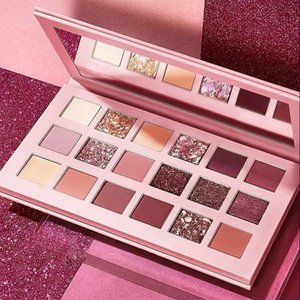 Wholesale rose colors resale online - Pearlescent color eyeshadow palettes desert rose eye shadow disc marble makeup plate