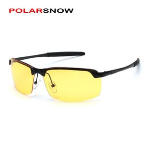 Wholesale polarized night drive glasses for sale - Group buy Night Driving Glasses Half Frame Resin Yellow Lens Oculos Men Night Vision Polarized Glass Anti Glare Goggle Eyewear Y Sunglasses