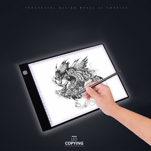 ingrosso luce di tracciamento principale-A4 LED Light Box Tracer Digital Tablet Gadget Gadget Graphic Tablet Scrittura Pittura Drawing Drawing Tracing Ultra sottile Tracing Copy Pad Board Artcraft Modalità