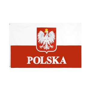 Wholesale polish flags for sale - Group buy Old Poland Flag Large x5 FT Foot Polish White Eagles EU Flags Banner cm Polyester with Brass Grommets Home Garden Wall Boat Decor