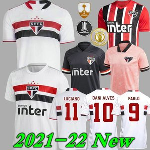 21 22 Sao Paulo Soccer Jersey away red 2021 2022 DANI ALVES PATO Hernanes LUCIANO Home white football shirt WOMEN