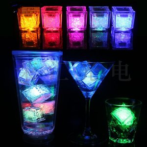 Wholesale cube decorations for sale - Group buy Multi colors Mini Romantic Decoration Luminous LED Artificial Ice Cube Flash Light Wedding Christmas Party Decoration T2I51770