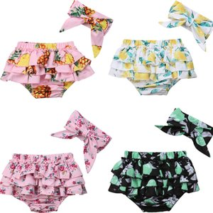 Wholesale baby bloomers diaper covers for sale - Group buy 2PCS Infant Baby Girl Lovely Causal Shorts Cotton Ruffle Floral Print Shorts PP Pants Nappy Diaper Covers Bloomers