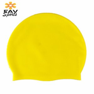 Wholesale protection ear cover resale online - Man And Women Silicone Swimming Cap Waterproof Long Hair Cover Diving Pool Head Swim Ear Protection Hat Caps