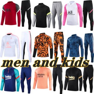 ingrosso felpe per bambini-Top barcelona real madrid psg france ajax marseille tottenham manchester city liverpool arsenal Atletico Madrid kids football kits soccer tracksuit suit