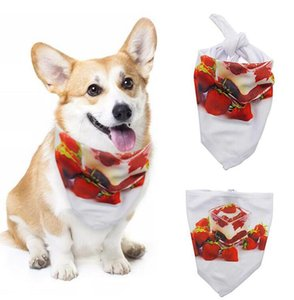 Wholesale halloween bibs resale online - Thermal Sublimation Pet Saliva Towel Blank Thermal Transfer Triangle Towel Environmentally Dog Scarf Triangle Bibs S XL WWA272