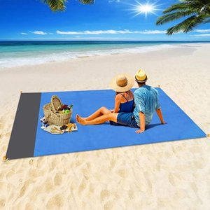 Wholesale family mat resale online - 2M M M M Waterproof Beach Blanket Outdoor Portable Picnic Mat Camping Ground Mattress Camp Bed Sleeping Pad DHL Free