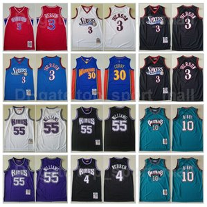Wholesale curry 4 for sale - Group buy Mitchell Ness Basketball Allen Iverson Jersey Jason Williams Chris Webber Michael Mike Bibby Stephen Curry Throwback Vintage High
