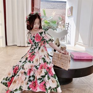 Wholesale sweet princess clothing resale online - 2021 Baby Girls Dress New Summer Kids Girl Princess Dresses Floral Sweet Dress Lovely Casual Costume Children Clothing Z2