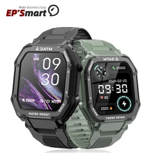 C16 Smart Watch Bracelet Fitness Tracker Touch 1.69 Inch Screen Sport Clock 3ATM Waterproof Heart Rate Monitor Message Reminder