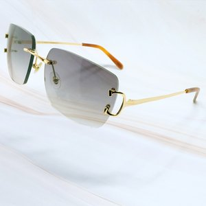 Wholesale desinger sunglasses resale online - Metal Rimless Designer Square Oval Sunglasses Luxury Mens Sunglass Carter Sun Glasses Brand Desinger Shades For Men