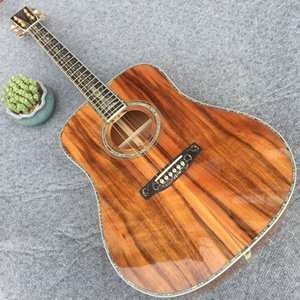 Wholesale mahogany wood for sale - Group buy 2021Custom factory direct sale hand made acoustic guitar All kOA wood Real full abalone closed knob mahogany inch with ebony fingerboard free of freight