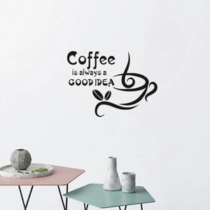 Wholesale ideas for decor for sale - Group buy Coffee Is Always Good Idea Wall Sticker Art Home Decor For Living Room Bedroom Decal Creative Stickers
