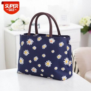Wholesale ladies lunch bags resale online - in stock Bag women new canvas handbag lunch box female bag ladies shoulder cloth