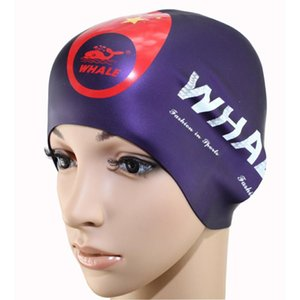 Wholesale protection ear cover for sale - Group buy Waterproof Flexible Silicone Round Swimming Cap Ear Protect Long Hair Protection Swim Caps Hat Cover For Adult
