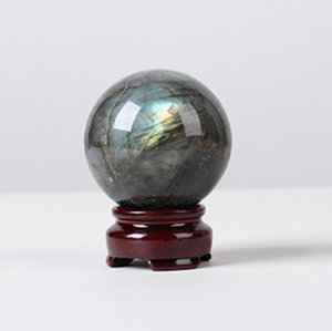 Wholesale natural crystal ball sphere stands for sale - Group buy 5 cm Natural Crystal Sphere Ball Healing Gemstone Quartz Figurine with stand for Decor or divination inch