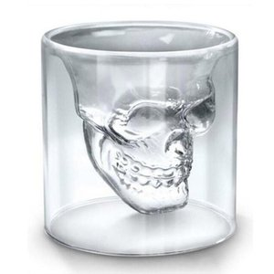 Wholesale wine glasses for sale - Group buy 25ML ML ML ML Wine Cup Skull Glass Shot Beer Whiskey Halloween Decoration Creative Transparent Drinkware Drinking Glasses FY4501