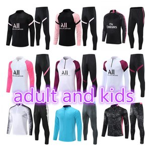 costumes enfants achat en gros de-news_sitemap_home2021 Hommes Football Former Tracksuit Real Madrid Dazard Football Paris Mbappe Enfants Sourdance Maillots de pied Enfants Kit de Chandal