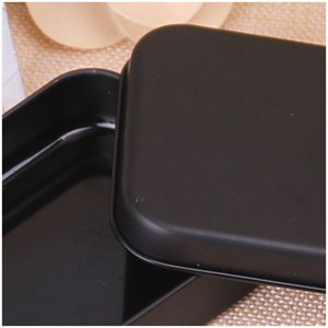 Wholesale rectangle tin boxes resale online - Rectangle Tin Box Black Metal Container Tin Boxes Candy Jewelry Playing Card Storage Boxes Gift Packaging V2