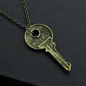 Wholesale vintage male jewelry for sale - Group buy Unique personality Apartment Key Pendant Necklace Vintage copper silver Female Male Movies Accessories Fashion Chain Jewelry