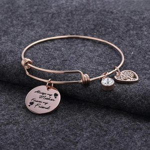 Wholesale customized bracelets resale online - Customized Bracelet Jewelry Tree Of Life Heart Charms Bangle Personalized For Women Mom