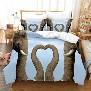 Wholesale duvet cover elephant for sale - Group buy Home Textiles Funny Elephants d Print Duvet Cover with Pillowcase Animals Bed Linen for Boys Girl Twin Double King Size Comforter Set