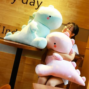 Wholesale dino toys for sale - Group buy 30 cm Soft Dinosaur Plush Toy PP Cotton Stuffed Blue Pink Lovely Dino Comforting Plushie for Baby Kids